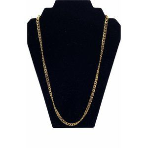 Chunky Golden Curb Chain Necklace 28in